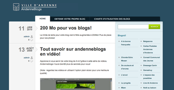 Suppression du service AndenneBlogs