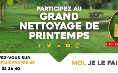Nettoyage de Printemps en Wallonie – weekend du 24 mars 2018